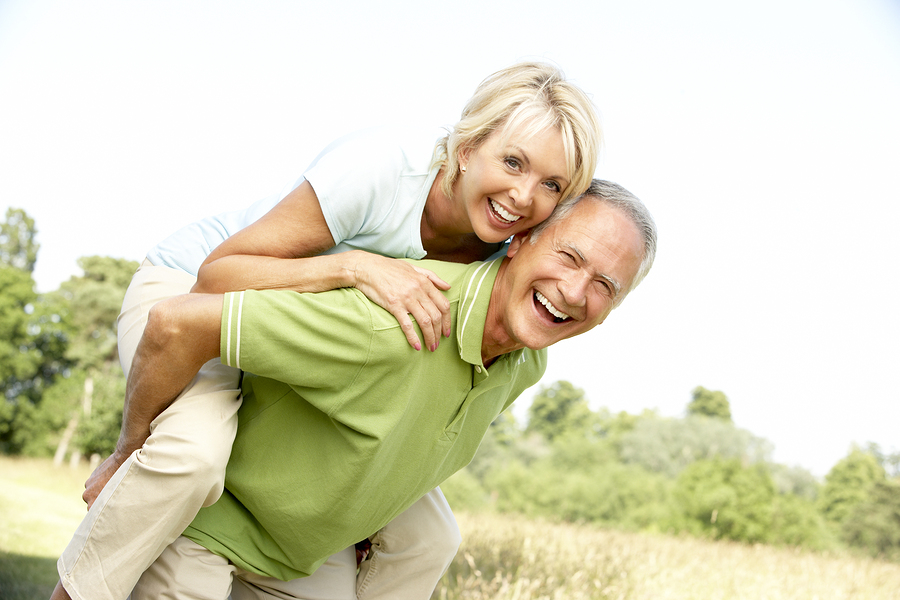 Mature Couple Smiling Enjoying Life